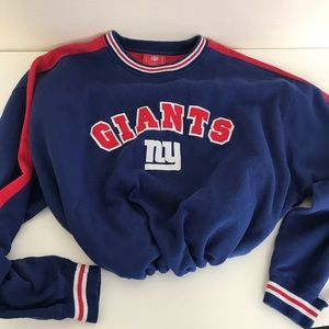 New York giants drawstring crop sweatshirt